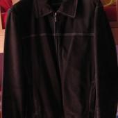 Мужская замшевая куртка осень-весна 52-54 размер