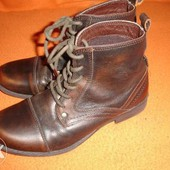 Фирменные (Италия) кожаные 34 р демисезонные ботинки унисекс