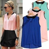 Стильная шифоновая блуза 4 цвета