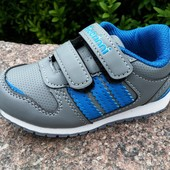 Кроссовки для мальчика серые  CBT размер 22-14 см и 23-14,5 см