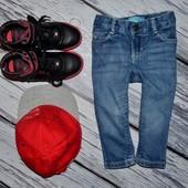 1 - 2 года 80 см Обалденные фирменные джинсы скины для моднявок узкачи Old Navy