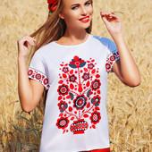 Блуза в этническом стиле с принтом-вышивкой Кимоно