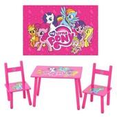 Комплект детской мебели «Розовый Пони», столик и два стульчика