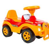 Джипик красно-оранжевый машинка каталка Орион 105