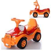 Джипик красно-оранжевый машинка каталка Орион 105 джип