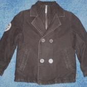Пальто на мальчика 6лет 116см
