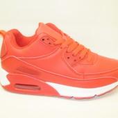 Кроссовки красные с белым Т647