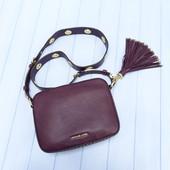 Кожаная сумка Michael Kors brooklyn lg camera bag plum
