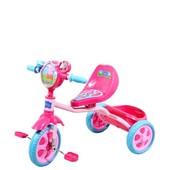 Велосипед детский 3 х колесный лицензионный Peppa   массажное сиденье, звонок, корзина, пропеллер