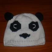 шапочка панда на весну на 3-5лет