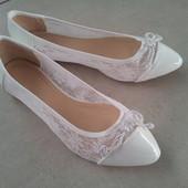 Балетки белые для невесты
