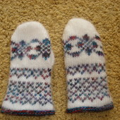 Новые шерстяные рукавички на 1_1,5г.