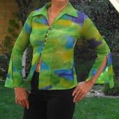 Прозрачная блузка зелёных оттенков