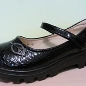 Продам Туфли школьные для девочки на тракторной подошве с 31 по 38 размеры
