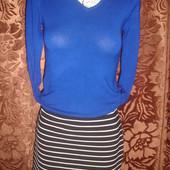 Яркий свитер пуловер с длинным рукавом на наш 44 размер