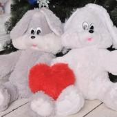 Плюшевый зайчик Снежок 65-100 см