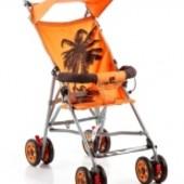 Коляска трость Geoby D222f-r4ot, оранжевый с пальмой