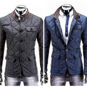 Мужская демисезонная стеганая куртка пиджак