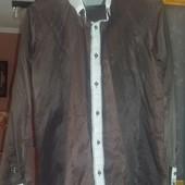 Красивая шоколадного цвета рубашка,  состояние новой!!! Размер L
