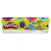 акция Плей-Дох набор пластилина из 4х банок по 112гр. Питомец Play-Doh (B5517)