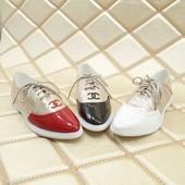 Туфли лоферы оксфорды для стильных леди Chanel .Весна-лето 2017