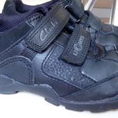 Кожаные кроссовки Clarks с мигалками,стелька 17,5см