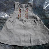 Платье-сарафан под водолазку(реглан) 3-6мес.