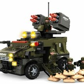 Конструктор Бронетанспортер с пушками Зенитка 822 детали Ausini 22704 аналог лего армия