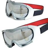 Маска горнолыжная/лыжные очки Spyder Pro с двойным стеклом: серебряная (Silver)