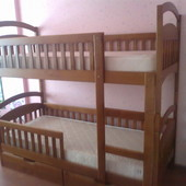 Супер-цена! Усиленная с 4 бортиками двухъярусная кровать Карина Люкс!