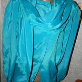 Бірюзова блузка(мокрий шовк)на яву темніша 46-48розм. 30грн