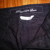 Летние льняные широкие брюки