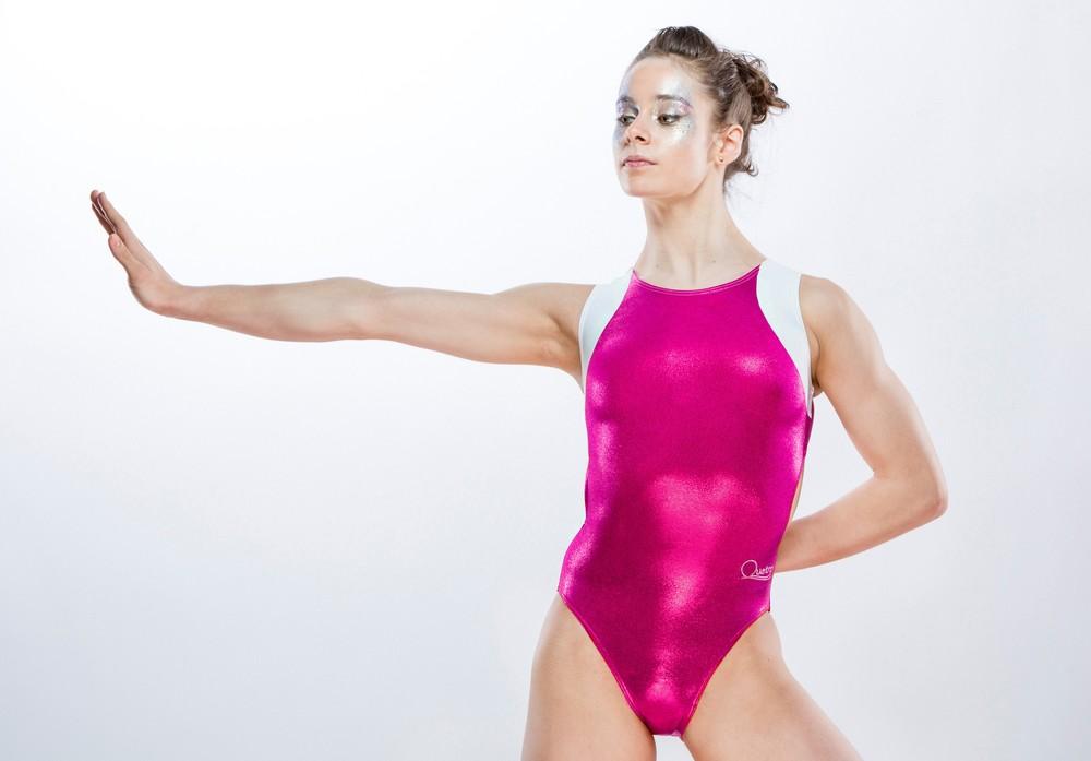 Hot Pink Gymnastics Leotards W Cute Animal Motif