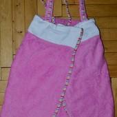 Фирменное Детское полотенце халат махровое девочке