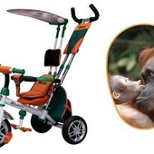 Трехколесный велосипед Азимут Сафари Azimut Safari bc-15а надувные и пена колеса