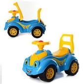 Машинка желто-голубая ТехноК Патриот 3510 автомобиль для прогулок  каталка толкатель