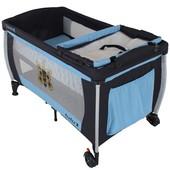 Манеж-кровать с пеленатором Quatro Lulu 1 голубой