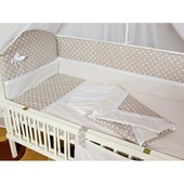 Шикарный, нежный комплект в кроватку для новорожденных