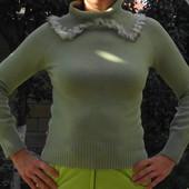Полушерстяной тонкий свитер