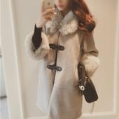 Зимнее пальто с меховой оторочкой.Зима 2016