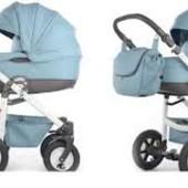 Универсальная коляска 2 в 1 Tako Ambre Eco кожа цвет №06, синяя