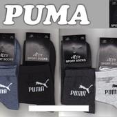 Носки мужские демисезонные х/б спортивные Puma, средние