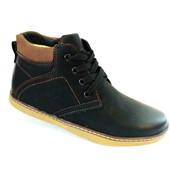 Недорого качественные зимние ботинки для мальчика на овчине бренда Olipas (р. 31-36) код 152