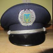 Фуражка міліцейська 57р. Нова. милицейская