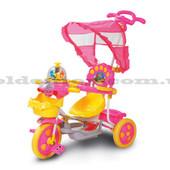 3-х колесный велосипед, роз/син, муз., свет