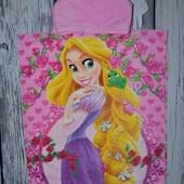 Фирменное Детское полотенце - пончо девочке махровое Рапунцель Принцессы Дисней оригинал