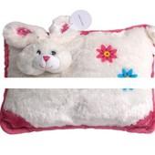 Подушка Кролик бело-розовая 35х26см