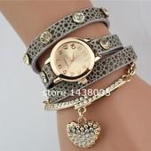роскошные часы  в форме сердца кулон браслет