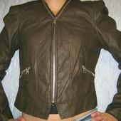 стильная и модная курточка новая кожзам отличного качества