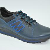 Мужские кожаные кросссовки MIDA 11154